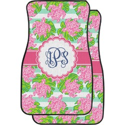 Preppy Car Floor Mats (Front Seat) (Personalized)