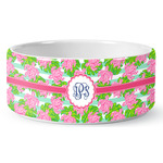 Preppy Ceramic Dog Bowl (Personalized)