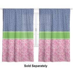"Preppy Curtains - 40""x84"" Panels - Unlined (2 Panels Per Set) (Personalized)"