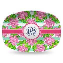 Preppy Plastic Platter - Microwave & Oven Safe Composite Polymer (Personalized)