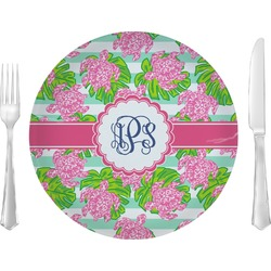 """Preppy 10"""" Glass Lunch / Dinner Plates - Single or Set (Personalized)"""