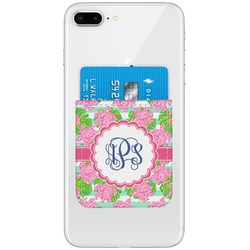 Preppy Genuine Leather Adhesive Phone Wallet (Personalized)