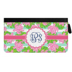 Preppy Genuine Leather Ladies Zippered Wallet (Personalized)