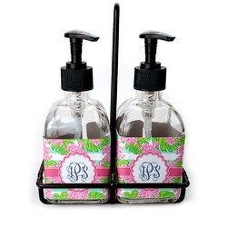 Preppy Soap & Lotion Dispenser Set (Glass) (Personalized)