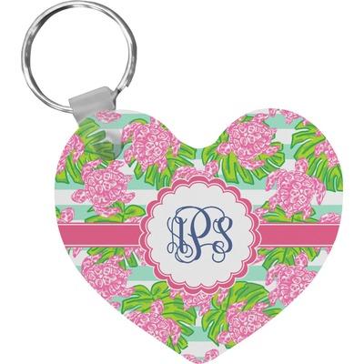 Preppy Heart Keychain Personalized Youcustomizeit