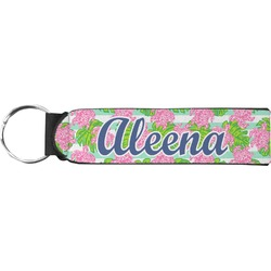 Preppy Neoprene Keychain Fob (Personalized)