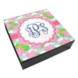 Preppy Leatherette Keepsake Box - 8x8 (Personalized)