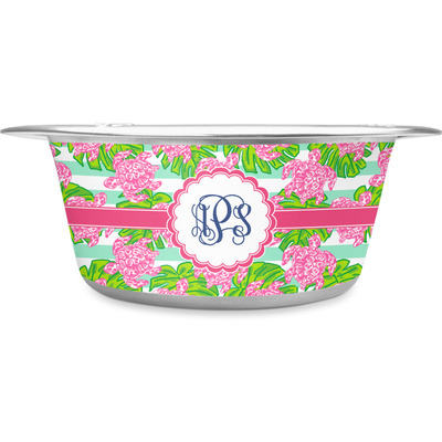 Preppy Stainless Steel Dog Bowl (Personalized)