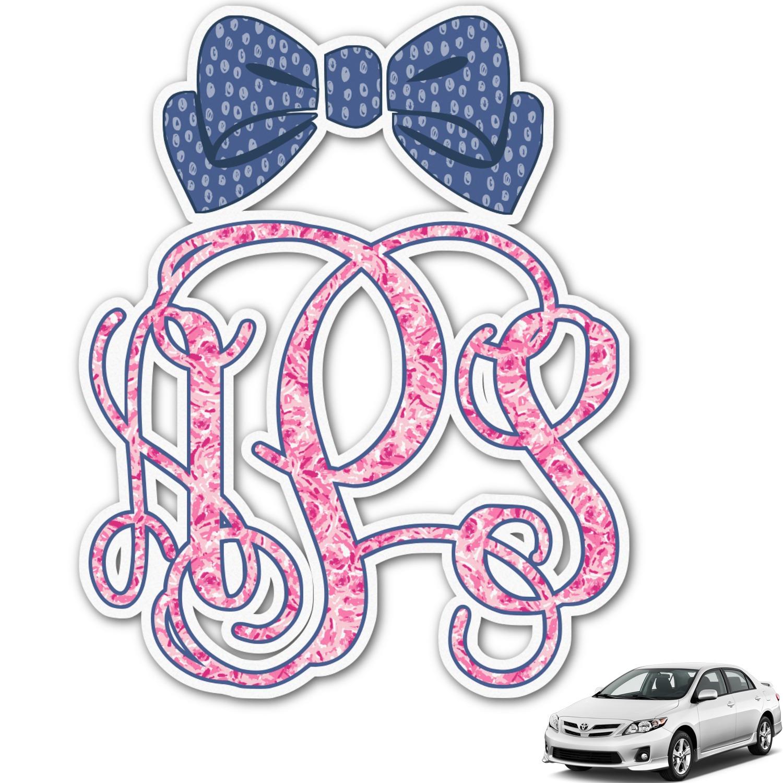 Preppy Car Stickers Preppy Monogram Car De...