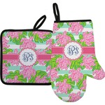 Preppy Oven Mitt & Pot Holder Set w/ Monogram