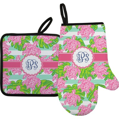Preppy Oven Mitt & Pot Holder (Personalized)