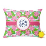 Preppy Outdoor Throw Pillow (Rectangular) (Personalized)