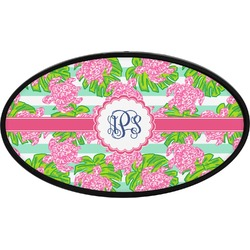 Preppy Oval Trailer Hitch Cover (Personalized)
