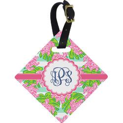 Preppy Diamond Luggage Tag (Personalized)