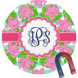Preppy Round Magnet (Personalized)