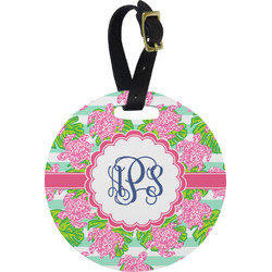 Preppy Round Luggage Tag (Personalized)
