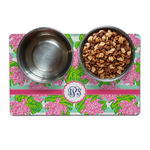 Preppy Pet Bowl Mat (Personalized)