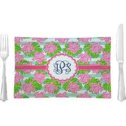 Preppy Rectangular Glass Lunch / Dinner Plate - Single or Set (Personalized)