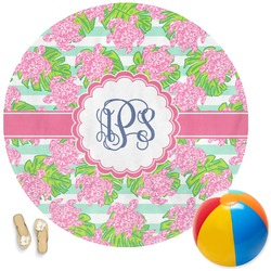 Preppy Round Beach Towel (Personalized)