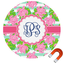 Preppy Round Car Magnet (Personalized)