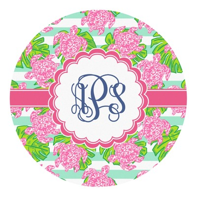 Preppy Round Decal (Personalized)