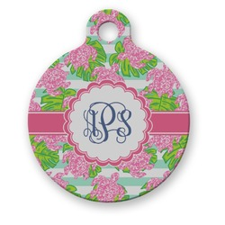 Preppy Round Pet Tag (Personalized)