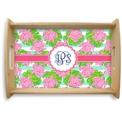 Preppy Natural Wooden Tray (Personalized)