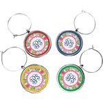Preppy Wine Charms (Set of 4) (Personalized)