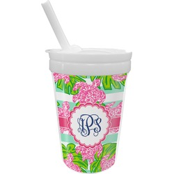 Preppy Sippy Cup with Straw (Personalized)