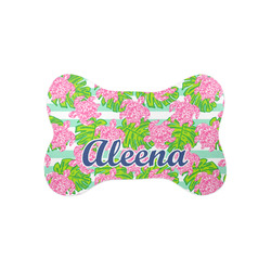 Preppy Bone Shaped Dog Food Mat (Small) (Personalized)