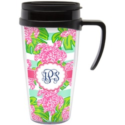 Preppy Travel Mug with Handle (Personalized)