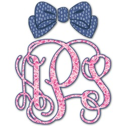 Preppy Monogram Decal - Custom Sized (Personalized)