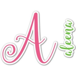 Preppy Name & Initial Decal - Custom Sized (Personalized)