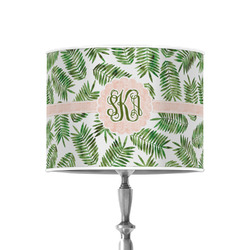 """Tropical Leaves 8"""" Drum Lamp Shade - Poly-film (Personalized)"""
