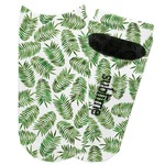 Tropical Leaves Adult Ankle Socks (Personalized)