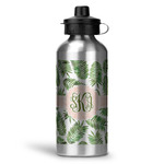 Tropical Leaves Water Bottle - Aluminum - 20 oz (Personalized)