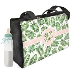 Tropical Leaves Diaper Bag w/ Monogram