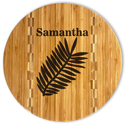 Tropical Leaves Bamboo Cutting Board (Personalized)