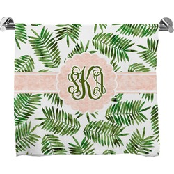 Tropical Leaves Bath Towel (Personalized)