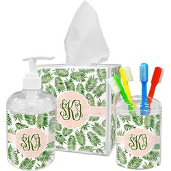 Tropical Leaves Bathroom Accessories Set (Personalized)