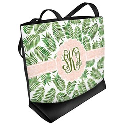 Tropical Leaves Beach Tote Bag (Personalized)