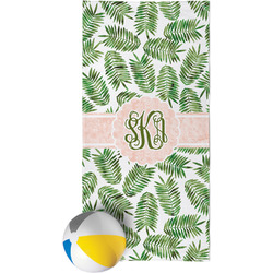 Tropical Leaves Beach Towel (Personalized)