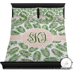 Tropical Leaves Duvet Cover Set (Personalized)