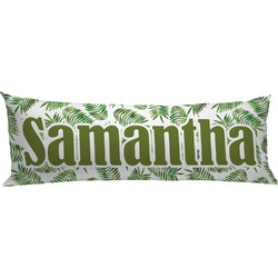 Tropical Leaves Body Pillow Case (Personalized)