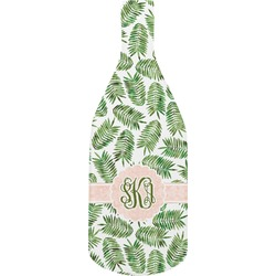 Tropical Leaves Bottle Shaped Cutting Board (Personalized)