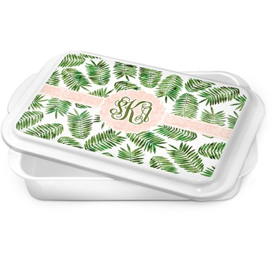 Tropical Leaves Cake Pan (Personalized)