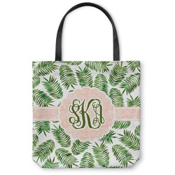 Tropical Leaves Canvas Tote Bag (Personalized)