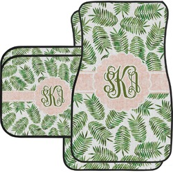 Tropical Leaves Car Floor Mats (Personalized)