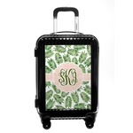 Tropical Leaves Carry On Hard Shell Suitcase (Personalized)