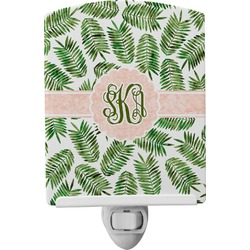 Tropical Leaves Ceramic Night Light (Personalized)